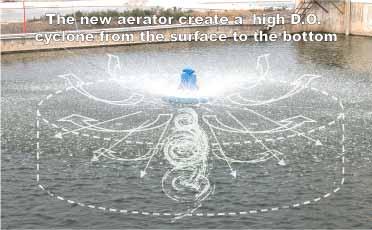 High Dissolved Oxygen Cyclonic Aerator